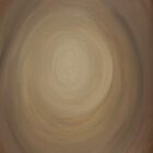 Brown abstract with circle by Lisa Kyle Young