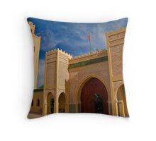 Morocco. Rissani. Mausoleum of Moulay Ali Cherif. Throw Pillow