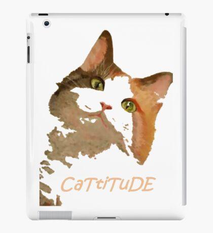 Cattitude - A Cat With Attitude iPad Case/Skin
