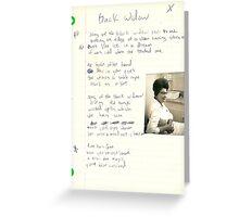 Blackwood Black Widow vintage poem by tia knight 1987 grunge Greeting Card
