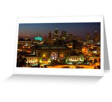 Kansas City night skyline Greeting Card