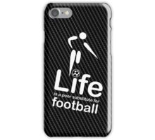 Soccer v Life - White Graphic iPhone Case/Skin