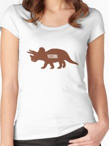 Triceratops Love Veggies Women's Fitted Scoop T-Shirt