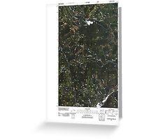 USGS Topo Map Washington State WA Aladdin Mountain 20110428 TM Greeting Card