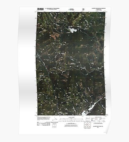 USGS Topo Map Washington State WA Aladdin Mountain 20110428 TM Poster