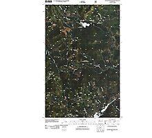 USGS Topo Map Washington State WA Aladdin Mountain 20110428 TM Photographic Print