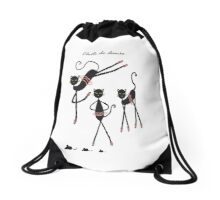 Chats de Danse Drawstring Bag
