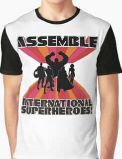 International Superheroes Graphic T-Shirt