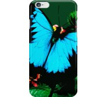 Wild nature - butterfly blue iPhone Case/Skin