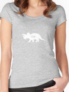 Triceratops Love Veggies - Dark Women's Fitted Scoop T-Shirt
