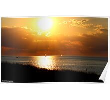 Sailboats & Sunsets Poster