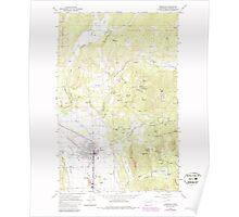 USGS Topo Map Washington State WA Chewelah 240478 1964 24000 Poster
