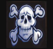 skull over crossed bones t One Piece - Long Sleeve