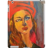 Woman in Red Hat iPad Case/Skin