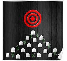 """""""On Target"""" dark grunge graveyard steam punk art Poster"""