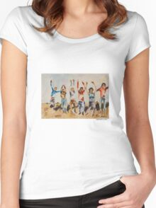 All Together Now... Women's Fitted Scoop T-Shirt