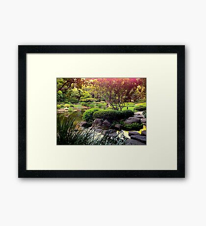 Elements Of Zen Framed Print