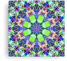 Vibrant Concentric Abstract Canvas Print