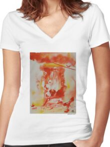 Hat Series #1 Hot Hats Women's Fitted V-Neck T-Shirt
