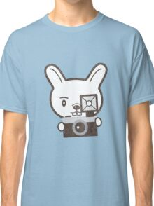 Cute Photographer Rabbit Classic T-Shirt