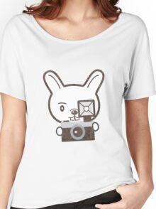 Cute Photographer Rabbit Women's Relaxed Fit T-Shirt