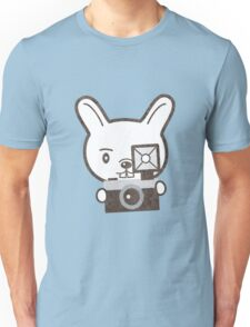 Cute Photographer Rabbit Unisex T-Shirt