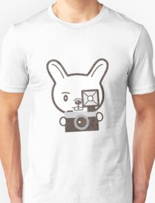 Cute Photographer Rabbit T-Shirt