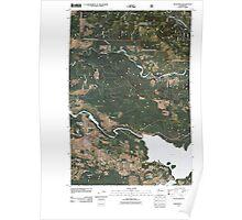 USGS Topo Map Washington State WA Mossyrock 20110511 TM Poster