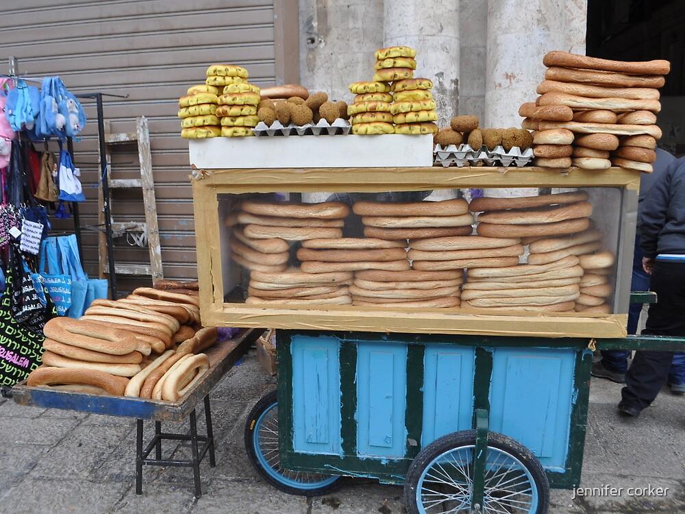 Jerusalem bagel seller by jennifer corker