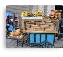 Jerusalem bagel seller Canvas Print