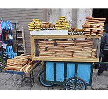 Jerusalem bagel seller Photographic Print