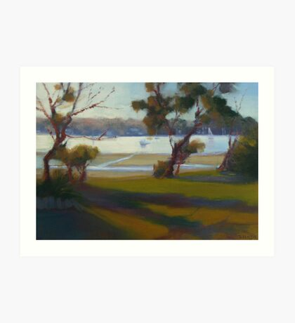 Afternoon Shadows, Gunnamatta Bay. (Critiques welcome) Art Print