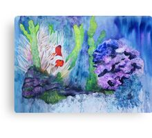Lonely Clownfish Canvas Print
