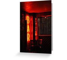 Bar - Kerouac drank here Greeting Card