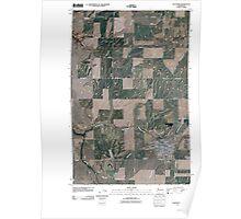 USGS Topo Map Washington State WA Davenport 20110401 TM Poster