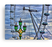 Lamps and the Wheel HDR Canvas Print