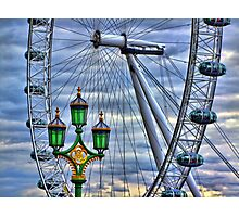 Lamps and the Wheel HDR Photographic Print