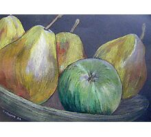 A Dish Full of Pears Photographic Print