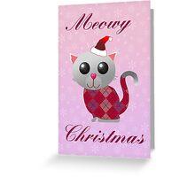 Santa Kitty Greeting Card