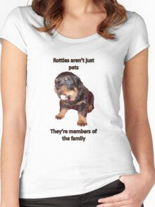 Rottweilers Are Not Just Pets Women's Fitted Scoop T-Shirt