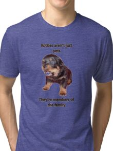 Rottweilers Are Not Just Pets Tri-blend T-Shirt