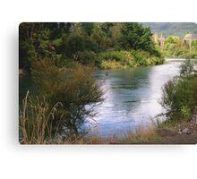 0012  Fly Fishing at Turangi, New Zealand Canvas Print