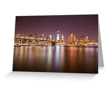 City Of Blinding Lights Greeting Card