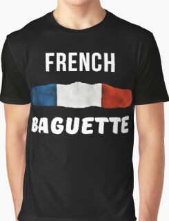 French Baguette Flag Patriotic  Graphic T-Shirt