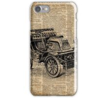 Classic Old Car,Vintage Vehicle,Antique Machine Dictionary Art iPhone Case/Skin