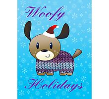 Woofy Holidays Photographic Print