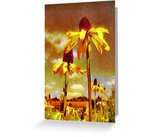 Yellow Echinacea  Van Gogh style Greeting Card