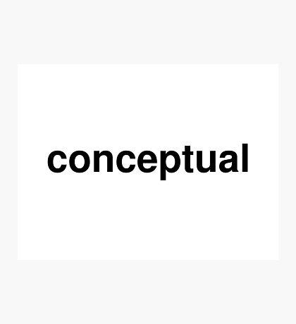 conceptual Photographic Print