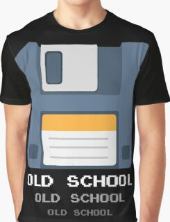 Old Computer Floppy Diskette Graphic T-Shirt