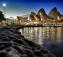 Opera house reflections by Adriano Carrideo